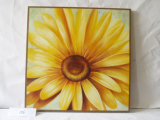 Yellow Gerbera Home Furnishing Canvas Painting Decorative Pattern