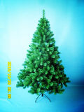 6FT/180cm Natural Green PVC Tipschristmas Tree with Incandescent Lights (MY100.057.01)