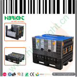 Plastic Collapsible Logistic Pallet Container with Lids