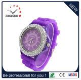 Geneva Crystal Silicone Wrist Watch Women Ladies Quartz Girls (DC-1072)