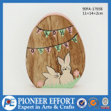 Wooden Easter Bunny Logo for Easter Eggs