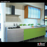 2016 Modern Green Glossy Lacquer Cabinet Design