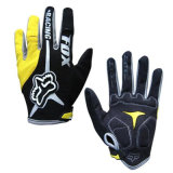 Yellow High Quality Sport Riding Glove Motorcycle Racing Gloves (MAG56)