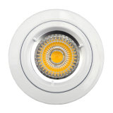 Die Cast Aluminum GU10 MR16 Round Fixed Recessed White Halogen LED Spotlight (LT1100)
