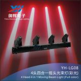 RGBW 4 in 1 LED Beam Stage Bar Light 4 Head Moving Head