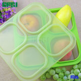 Four Compartment 100% Silicone Food Container for Fingerfood on The Go