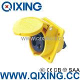 Waterproof IEC309-2 3p+E Industrial Plug Socket AC 110-130V 32A AMP