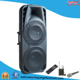 Double 15′′ Inch Professional Speakers for Stage with Big Rechargeable Battery F86