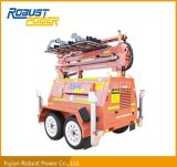 Four Folded Hydraulic Heavy Duty Mobile DC LED Light Tower