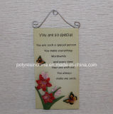 Polystone/Resin/Polyresin Plate with Words Sayings for Home Decor