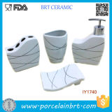 Fashion Life Ceramic 4PCS Bath Set Bathroom Accessories Modern