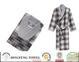 100% Cotton Super Soft Color Jacquard Bathrobe Df-8857
