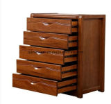 Walnut Chest of Drawers in Modern Chinese Style Drawer Ark Receive Ark Locker Completely Real Wood Bedroom (M-X3340)