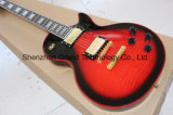 Quilt Flamed with Black Burst Finished Lp Style Electric Guitar (GLP-96)