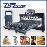4 Axis (FCT-2515C&W-8S) Woodworking Router, Statue Sculpture