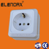 European Style Surface Mounted Power Wall Socket with Earth (S1010)