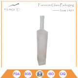750ml Rectangle Glass Bottle for Beverage Packing