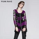 Modern Skull Design Ladies Loose Sweater Knitting Patterns (M-004)