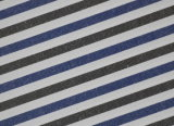 Charcoal/Navy Stripes Comfortable CVC Shirt Fabric