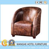 Antique Leather Brown Sofa Set