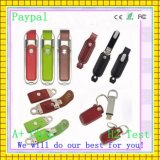 Safe Payment High Quality Leather USB Flash Drive (GC-L008)