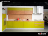 2015 Welbom High Gloss Yellow Green Lacquer Kitchen Cabinet