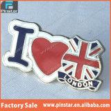 Factory Directly Wholesale High Quality Custom Souvenir I Love London with Union Jack Custom Made Badge