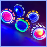 Square Round Shape Factory Wholesale Motorcycle Headlight Colors Option LED Project Lens with Angel Eyes