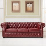 European Style Chesterfield Leather Sofa
