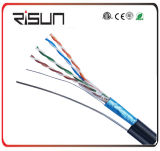Outdoor LAN Cable F/UTP Cat5e with Messenger (Jelly Compound, PE Jacket)