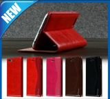 Red Leather Wallet Folio Flip Case for iPhone 6 Plus