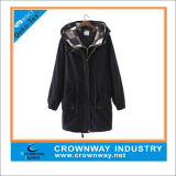 Custom Ourtewear Winter Hooded Parka Jacket for Ladies