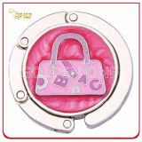 Fancy Design Circle Foldable Metal Handbag Hook for Lady