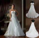Satin Ball Gown Sweetheart Wedding Dress