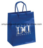Fashion Blue Rope Handle Art Paper Shopping Bag