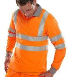 Hi-Vis Safety Security Short & Long Sleeve Workwear Shirt Apparel