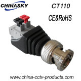CCTV Male BNC Connector with Screwless Terminals (CT110)