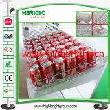 Shelf Roller System for Supermarket Gondola