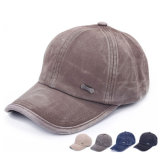 Classic Metal Tag Textured Cotton Baseball Cap (YKY3045)