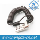 4 Digit Laptop Computer Security Cable Changeable Combination Lock