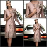 Applique Mother of The Bride Dress 3/4 Sleeves Suits Evening Dress B33