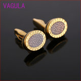 Fashion Elliptic Pulse Pattern Cufflinks Gemelos L52101