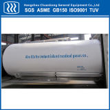 Horizontal Cryogenic Liquid Oxygen Nitrogen Argon CO2 Tank