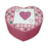 Love Heart Children Upholstered Stool (SXBB-142)