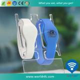 Custom Logo 13.56MHz Ntag213 RFID Silicone Wristband