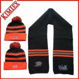 100% Acrylic Winter Scarf and Hat Knitted Set