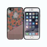 Flower TPU Hybrid Mobile Phone Case for iPhone-Orange