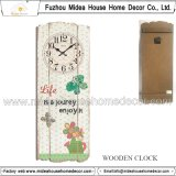 Retro Wall Clock with Flower Designs