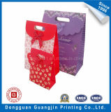 Triangle Shape Fancy Paper Gift Bag with Ribbon Decoration