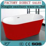 New European Style Colour Acrylic Oval Soaking Bathtub (608D)